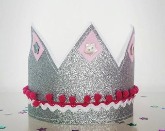 Glitter Adjustable Party Crown