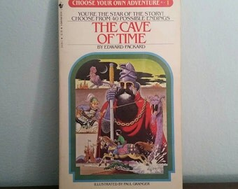 The Cave of Time by Edward Packard, vintage children's Choose Your Own Adventure book