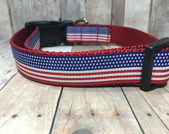 "The Freedom | Designer 1"" Width Dog Collar 