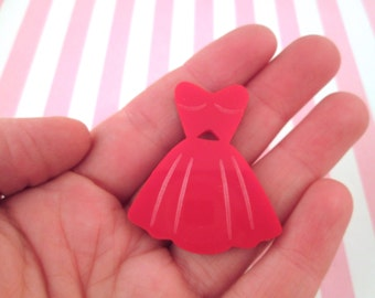 Red Dress Cabochons Laser Cut Acrylic Cabochons, #315