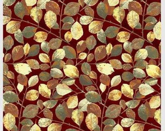 Shades of Autumn Leafy Vine from P & B by the yard