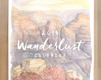 2016 Wanderlust Nature Travel Calendar