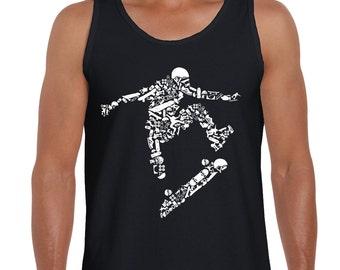 Skateboarder Men's Vest Tank Top - Skateboard Skateboarding Clothing