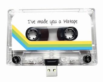 4GB/8GB/16GB USB Mix tape - Retro Personalised Gift -Handmade, Birthday, Anniversary Present- Boyfriend, Girlfriend, Friend- Flash Drive