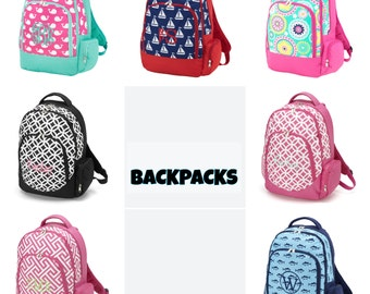 Monogrammed backpacks - personlized backpack - School Bag - customized backpack -