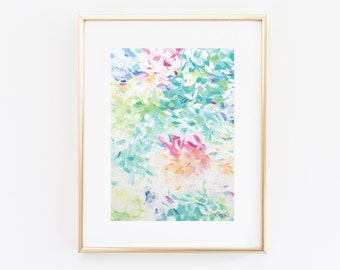 """Multicolored Abstract Art Giclee Print   Kate Spade Inspired Office Decor, Home Wall Art, Professional Print of Original Painting   8x10"""""""