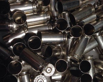 40 Caliber Nickel Casings (10x), Spent Brass, crafting material, Once Fired bullet casings