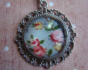 blue floral Victoria pendant
