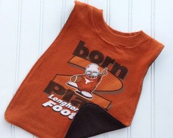 UT football pullover bib!   Perfect gift for your littlest UT fan!