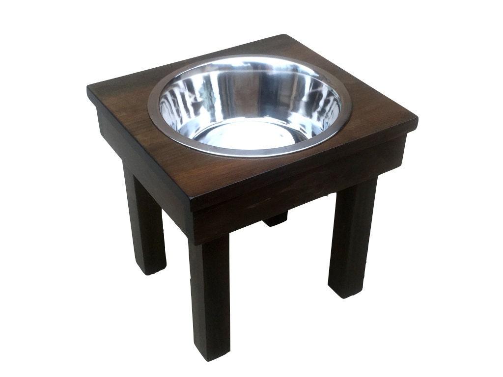 Raised Dog Bowl Elevated Pet Feeder 12 Single 3 Quart