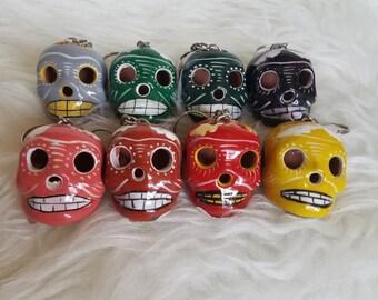 Dia De Los Muertos Sugar Skull Keychain