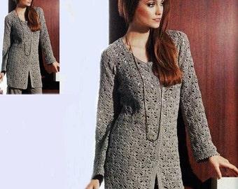 Mesdames automne cardigan crochet gris / custom
