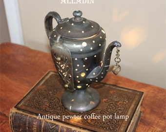 Alladin antique coffee urn lamp