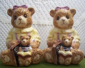 Adorable Teddy Bear Salt & Pepper Shakers