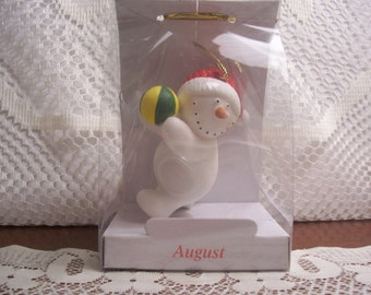 Snowman Christmas Ornament for August