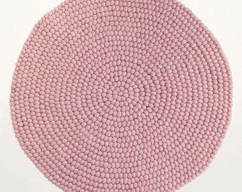 Felt ball rug - Galah | Pink | Filzkugelteppich (fast shipping)