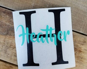Name letter decal, decals, yeti cup decals,