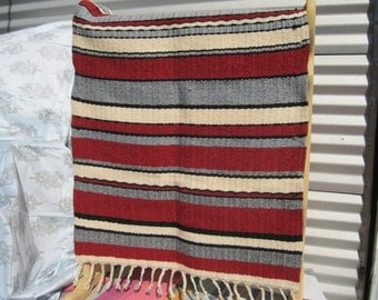 Handwoven Rug  ,All Wool, Made in USA