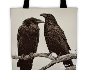 """Two Ravens All-Over Tote (15"""" x 15"""")"""