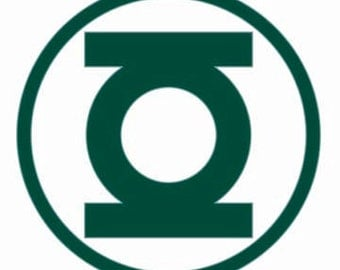 Green Lantern Cross Stitch Pattern