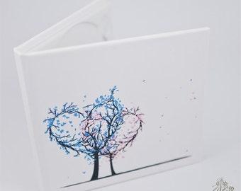 Handmade wedding CD/DVD case, cover - Tree of Love / neodymium magnets