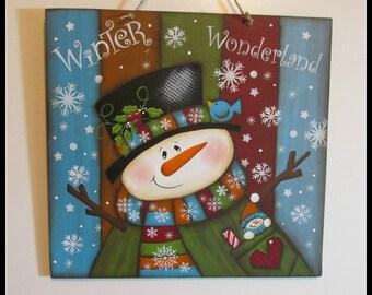 Winter Wonderland Snowman Wall Art