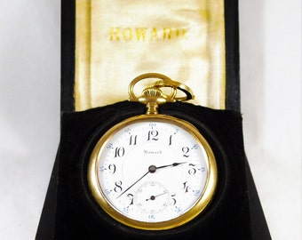 Rare 1915 Antique Howard Series 9 Pocket Watch in Original Case/with Papers