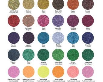 "Siser Glitter HEAT TRANSFER vinyl sheet 6.5"" x 12"" glitter colors-  Iron On T-Shirt Wedding DIY"