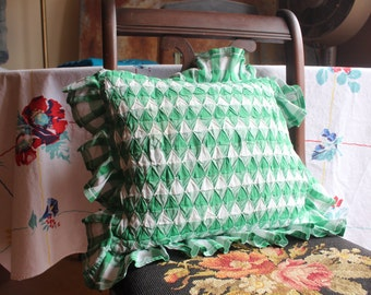 Pillow cover Green Gingham Decorative