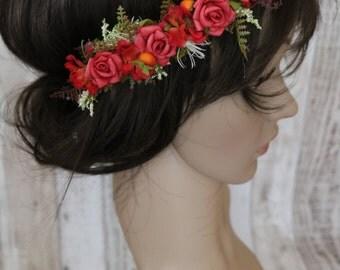 Floral Elastic Headpieces - Rose