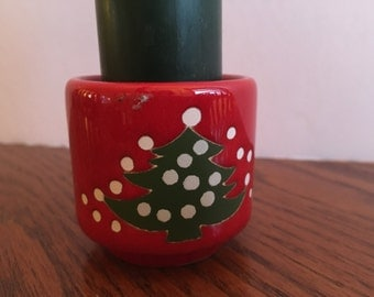 Vintage Waechtersbach West Germany  Christmas candle holder