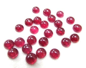 8 mm (1 pcs) Natural Ruby Round Cabochon AAA Quality gemstone....