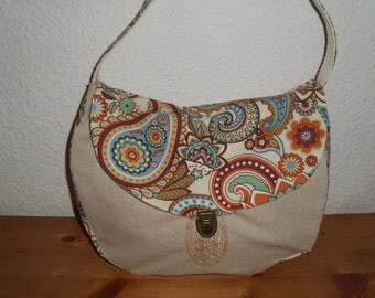 Joisys ® canvas Hobo bag Paisley * Kelly * Brown