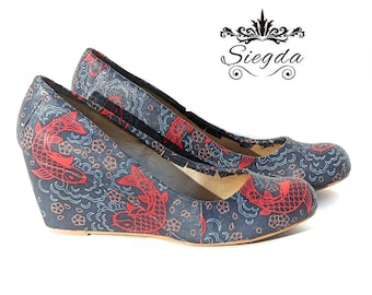 Koi and Cherry Blossom Shoes-Choose Your Style
