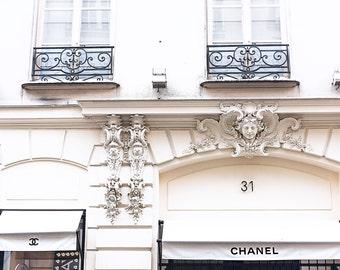 Chanel Paris Print, Coco Chanel, Chanel Photograph, Gift for her, Chanel Home Decor, Paris Print, Paris Photography, Large Format Print