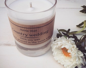 COUNTRY WEDDING soy candle