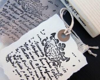 French Letter Ink Stamp,Rubber letter Ink Stamp,Scrapbook Decorative Ink Stamp  -1056081016-