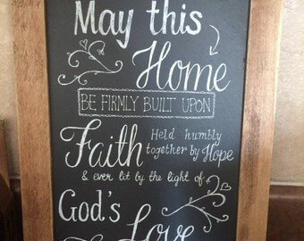 Slate, Chalkboard home decor