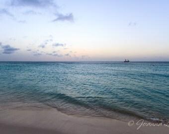 Aruba Sunset Sailboat - Print, Canvas Gallery Wrapped Print