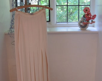 Chanel Vintage Full Length Skirt with Side Slit in Pale Pink