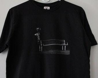 Last One EVER! Skate Bush Babooshka Ollie T Shirt Digitally Printed Black