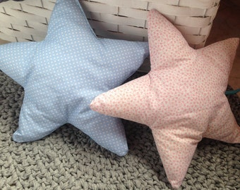 Star Pillow, Star Cushion, Star Shaped Pillow, Nursery Decor, Home Decor, Pink Star Pillow, Polkadot Star Pillow, Baby Star Pillow