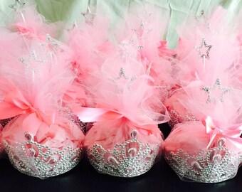 Princesse bithday party favor bags.