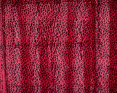 Red & black faux fur anim...
