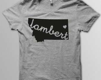 Custom MONTANA Hometown American Apparel Tri blend Tshirt