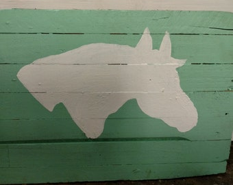 Horse Silhouette Wall Hanging