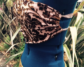Gypsy paisly velvet crop top : )