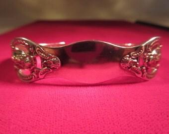 Boho Sterling Silver Spoon Cuff Bracelet