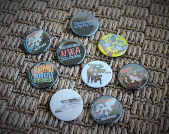 Hip Hop Buttons-Collection of 9