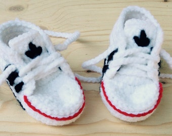 Baby sneakers crochet crocheted baby shoes/sneakers